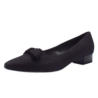 Peter Kaiser Leah Pointed Toe Low Heel Courts In Black Corn