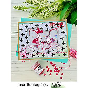 Picket Fence Studios Maddie Kitten Clear Stamps