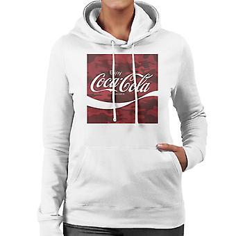 Coca Cola Camo Frauen's Kapuzen Sweatshirt
