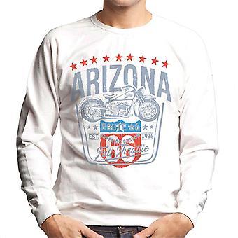 Route 66 Arizona Motorcycle Men's Sweatshirt