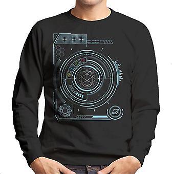 Krystal labyrint blå skærm mænd ' s sweatshirt
