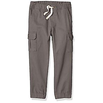 Essentials Little Boys' Cargo Pants, Grey, Small