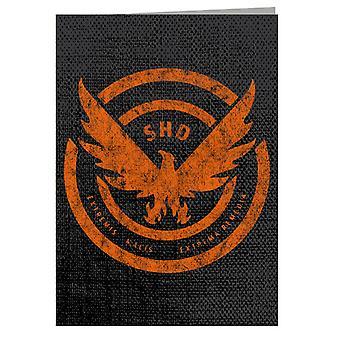Tom Clancy Distressed Orange Logo Extrema Remedia Biglietto di auguri