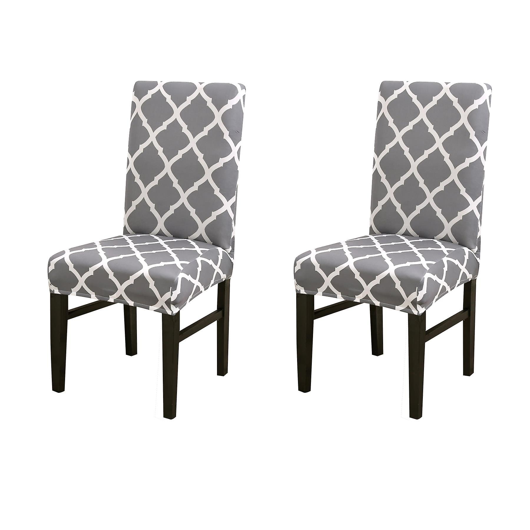 Grey Wedding Banquet Removable Stretch Slipcover Dining ...