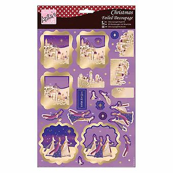 Anita's Navidad frustrado Decoupage We Three Kings