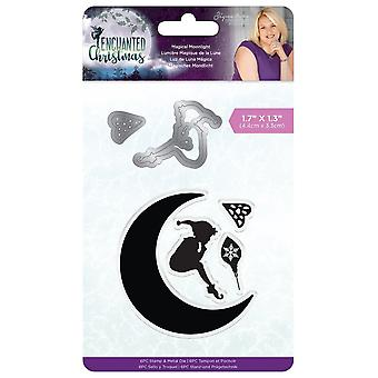 Crafter's Companion Enchanted Christmas Stamp & Die Magical Moonlight