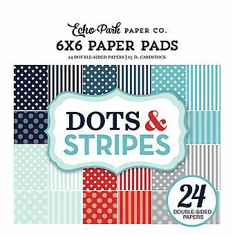 Echo Park Zimowe kropki & Paski 6x6 calowy papierowy pad