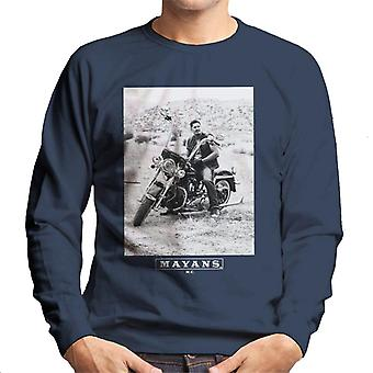 Mayans M.C. Motorcycle Club Ezekiel Reyes EZ Black And White Men's Sweatshirt
