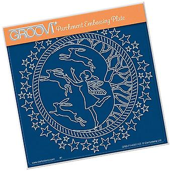 Groovi Fairy Night Round A5 Square Plate