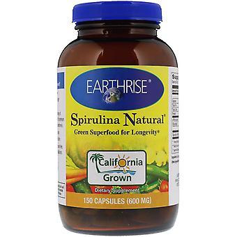 Earthrise, Spirulina Natural, 600 mg, 150 Capsules