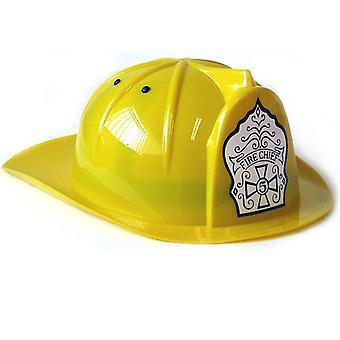 Peterkin brandchef hjelm gul