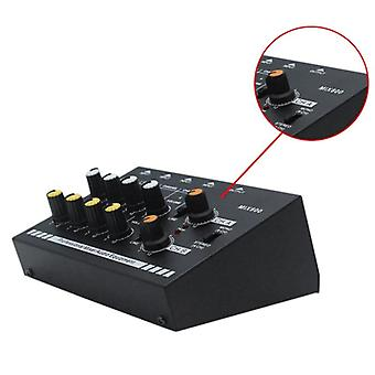 4 / 8-Channel Mini Mixer 4-Channel Line Mixer Reverb Audio Mixer