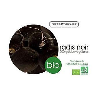 Organic black radish radice 180 capsules of 270mg