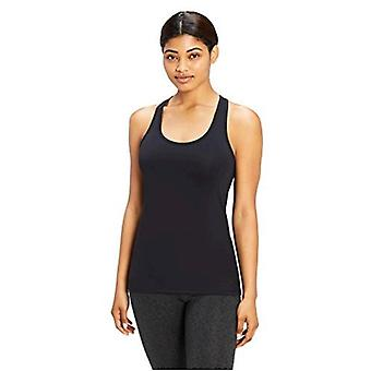 Marca - Core 10 Mujeres's Yoga Fitted Racerback Tank, negro, Pequeño