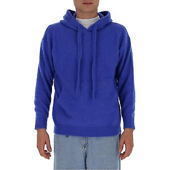 Laneus Cpu1005cc14bl Men's Blue Cashmere Sweatshirt