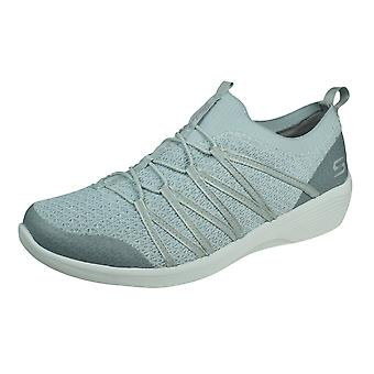 Skechers Arya Womens Casual Slip on Trainers - Cinza Claro