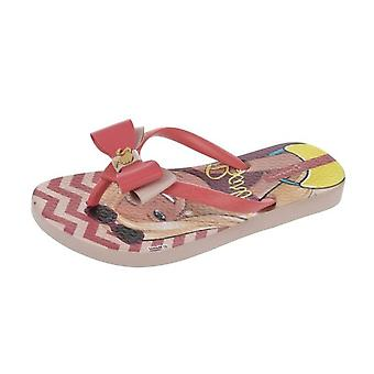 Ipanema Love Girls Beach Flip Flops / Sandals - Pink and Coral