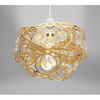 Country Club Gem Wrap Light Fitting, Gold