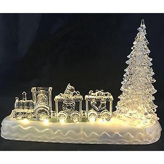 Trem led de natal água/luz USB 28 cm