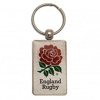 Porte-clés en métal rose de rugby d'Angleterre
