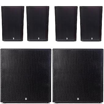 Big gig rig 24 - passive 3200w rms 4 10 tops and 18 subwoofer pa system