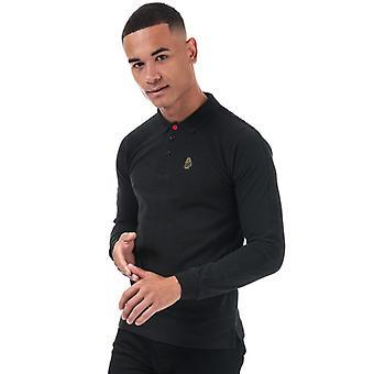 Men's Luke 1977 Willtape Long Sleeve Polo Shirt in Black