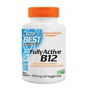 أفضل الأطباء B12 النشطة بالكامل، 1500 ميكروغرام، 180 قبعات الخضار