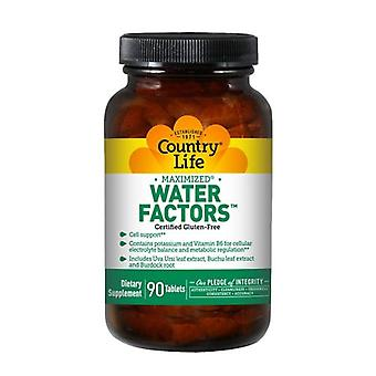 Country Life Water Factors (Formerly Known As Diuretic Factors), 90 Tabs