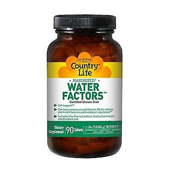 Country Life Water Factors (voorheen bekend als diuretische factoren), 90 tabbladen
