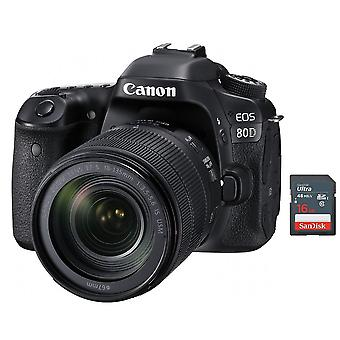 CANON EOS 80D KIT EF-S 18-135mm F3.5-5.6 IS USM + 16GB SD-Karte