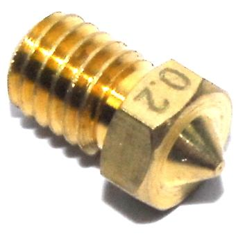 0.2mm M6 3mm V6 Brass Nozzle