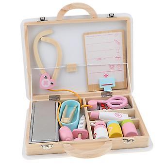 خشبية الطبية مجموعات طفل دور اللعب والإكسسوارات تعيين مع حقيبة حمل