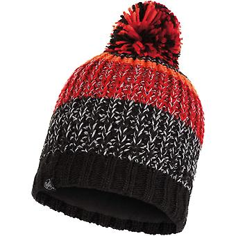 Buff Unisex Stig Chunky Fleece Lined Knitted Warm Winter Bobble Beanie Hat Black