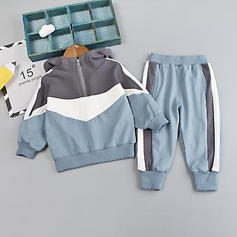 Spring Autumn Clothes Suit  Baby Solid Jacket Pants Toddler Active Cotton