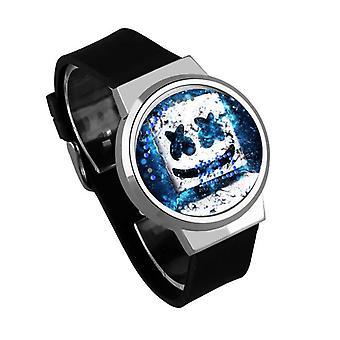 Vodotesné svetelné LED digitálne dotykové detské hodinky - Marshmello #15