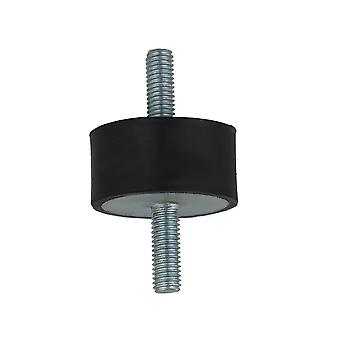M8 VV Type Black Rubber Mount Isolator for Heavy Machine 40x20mm