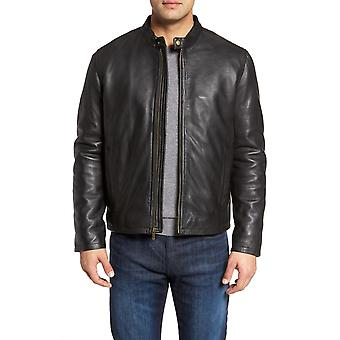 Drake men's classic cowhide leather jacket
