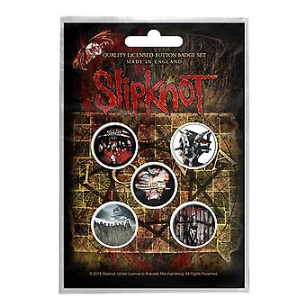 Slipknot Badge Pack Albums Iowa gray Chapter Band Logo new Official 5 Pack