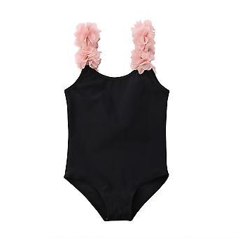 Newborn Baby Swimsuit, Cute Flower Strap Bikini Swimwear