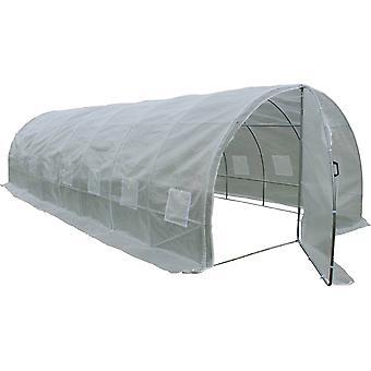 Invernadero con puerta batiente Mimosa - 24m² - 8 x 3 x 2 m
