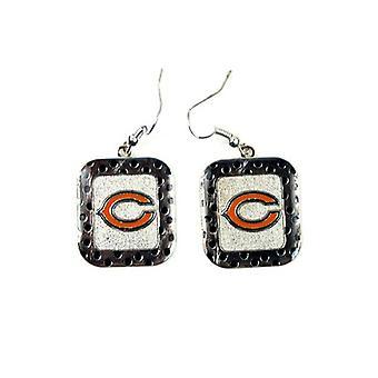 Chicago Bears NFL Polka Dot Style Dangle Boucles d'oreilles