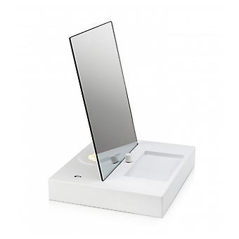 Reflektieren Sie weiße Tischlampe 1 Glühbirne