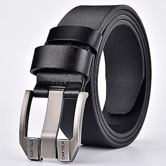 Men's Casual Leather Pin Buckle Belt, Classic Vintage Style