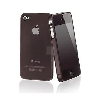 Iphone 4 & 4s Hard Plastic Cover Back Case - Sort