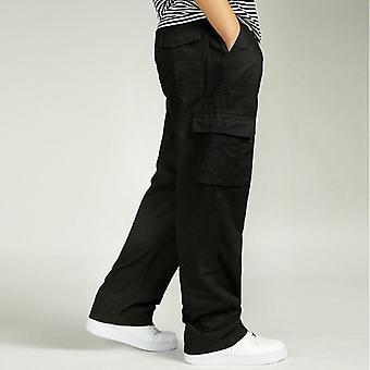 Pantaloni casual Men's, Salopete elastice din bumbac, Multi-pocket