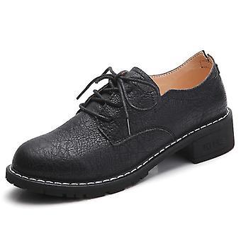 Wohnungen Oxfords, Echtleder Frauen Loafers Schuhe & Damen Schnürschuhe /