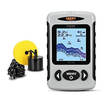 "Lucky Ff718d  2.2""  Lcd Portable Fish Finder Depth Finder 200khz/83khz Dual"