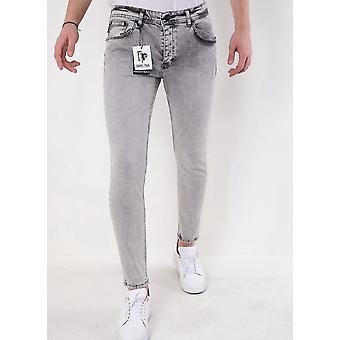 Slim Fit Jeans - 2610- Grey