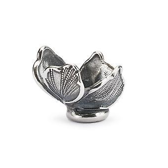 Trollbeads وضوح زهرة الاسترليني الفضة الخرز TAGBE-10249