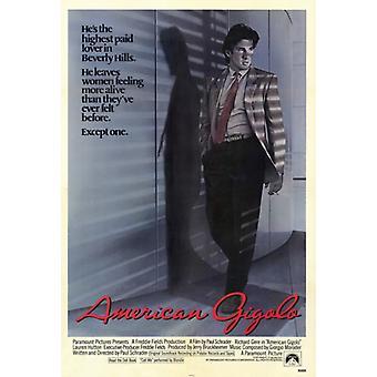 American Gigolo-Film-Plakat-Druck (27 x 40)